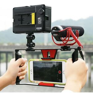 Details about Cell Phone Video Shot Cage Stabilizer Film Making Rig for  Samsung GALAXY S9 S8 +