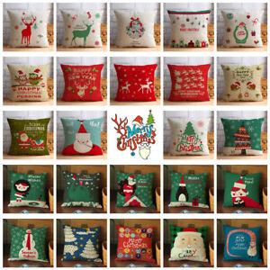 Christmas-Series-Pillow-Case-Cotton-Linen-Pillow-Cushion-Cover-Throw-Home-Decor