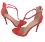 thumbnail 3 - Womens Ladies Red Faux Suede High Heel Party Sandals Shoes Size UK 4 5 6 7 8 New