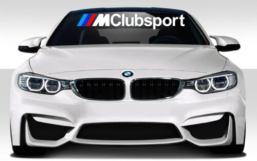 BMW M Performance CLUBSPORT Car Windshield Vinyl Decal Sticker JDM EURO DUB