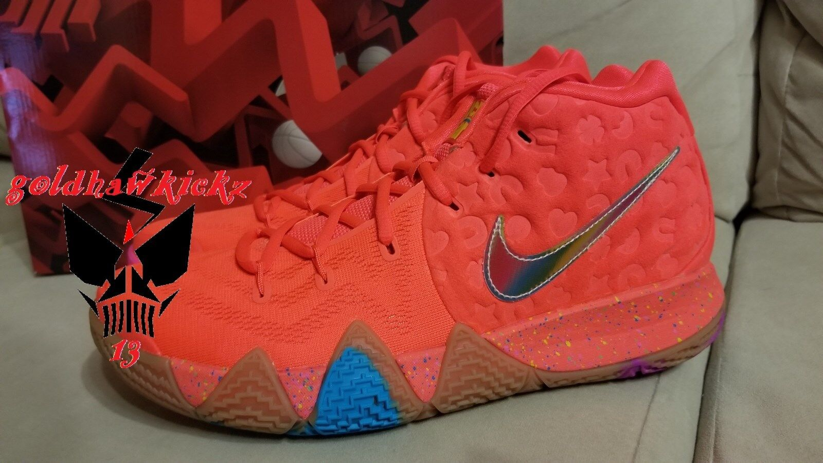 Nike BV0428 kyrie 4 lucky charms BV0428 Nike 600 bright crimson mc Cereal Pack irving 12c8dc
