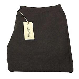 LUISA VIOLA leggings fabric jersey heavy dark brown mélange 45% viscose