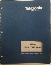 Tektronix 7B92A Dual Time Base Instruction Manual w/Options P/N 070-1751-01