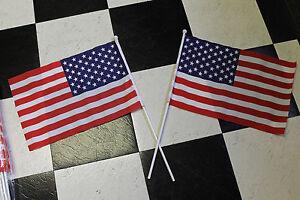 "12"" x 18"" American Flag - Printed on Cloth - Six Dozen - 72 Flags"