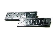 Fregio stemma sigla scritta FIAT 500L ZAMA CROMATA ORIGINAL badge emblem escudo