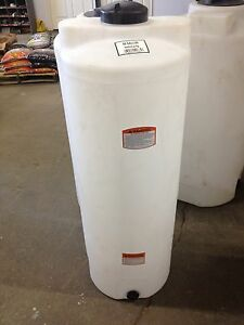 50 Gallon Vertical Poly Water Storage Plastic Tank Water