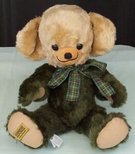 Merrythought-Cheeky-Teddy-Bear-Mohair-Character-Toy-England