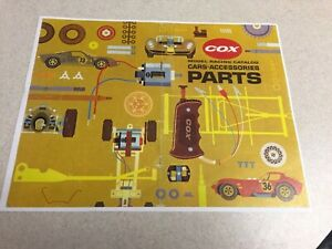 VINTAGE-COX-MODEL-RACING-CATALOG-PARTS-COVER-VERY-COOL-COLOR-COLLECTABLE-AD