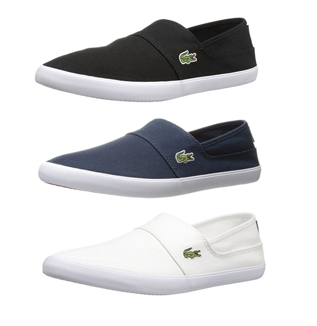 cf375a63ee9ca6 Lacoste Marice BL2 Men s Casual Canvas Loafer Shoes Sneakers Black Blue  White