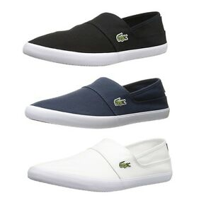 02b0c962e Lacoste Marice BL2 Men s Casual Canvas Loafer Shoes Sneakers Black ...