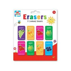 8-Childrens-Kids-Fruit-Scented-Rubbers-Erasers-Ideal-Gift-or-Party-Bag-Fillers