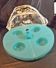 4 DRINK INSERT PICNIC TABLE ACCESSORY WITH UMBRELLA  INSERT HOLE PORTABLE W/BAG