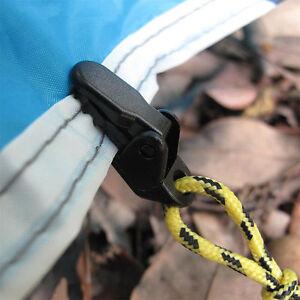 10 X Markise Clamp Tarp Clips Camping Zelt Klemmen Uberlebens
