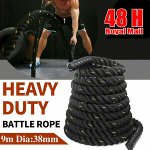 9M Battle Power Rope 38mm Battling Sport Bootcamp Gym Exercise Fitness Training