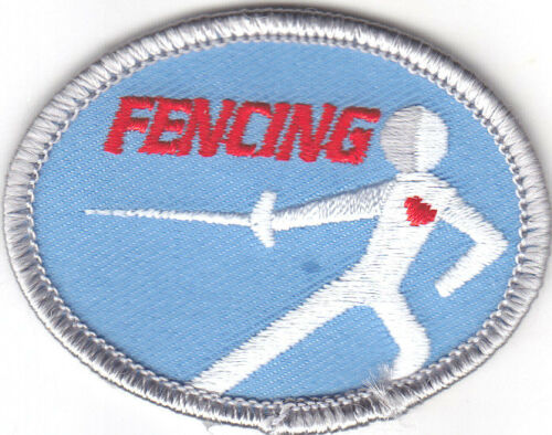 FENCING Iron On Patch Sports Game