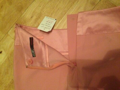 Ladies pink trousers satin band wide flare leg NAUGHTY designer Size 12 or 14