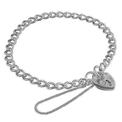 Enlace de cordón de plata esterlina 925 pulsera con dijes con Broche Corazón Candado