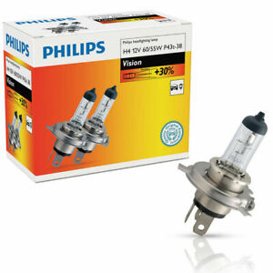 Philips-H4-12V-60-55W-P43t-Vision-30-2st-12342PRC2