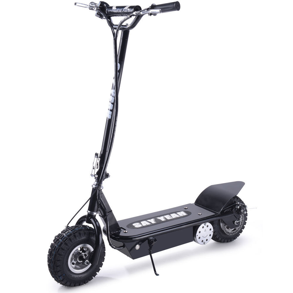 Decir sí 800w 36v de alto rendimiento Scooter eléctrico de calle en Negro