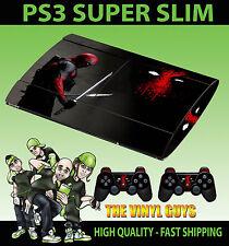 PLAYSTATION PS3 Super Slim DEADPOOL mercenario Wade SKIN ADESIVO & 2 PAD Pelle