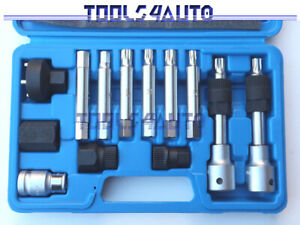 Alternator  Pulley Socket Bit Tool Set FITS VW AUDI BMW GM MERCEDES SEAT