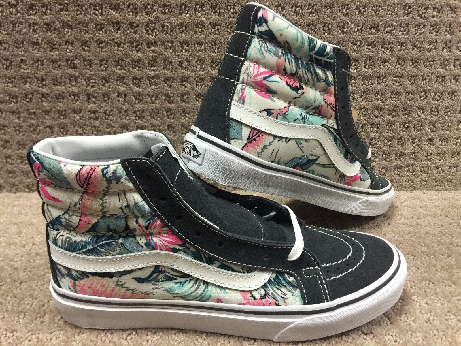 Vans Herren (Tropisch) Weiß Multi Schmal Sk8 Hi Schuhe