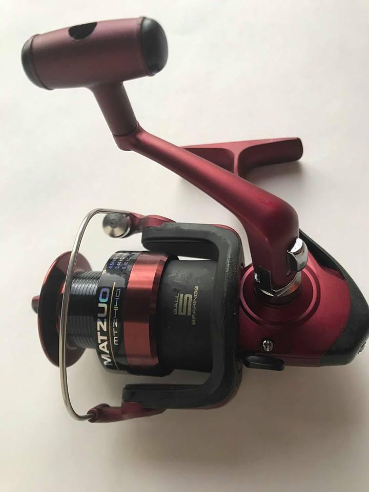 MATZUO MTZ4140 Spinning Fishing Reel RED 5.2 1 Gear Ratio Fish 5 BB ( READ..)