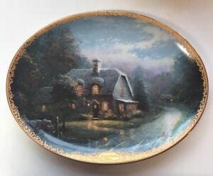 Image is loading Bradford-Exchange-Thomas-Kinkade-Decorative-Plate -L&light-Glen & Bradford Exchange Thomas Kinkade Decorative Plate u0027Lamplight Glen ...