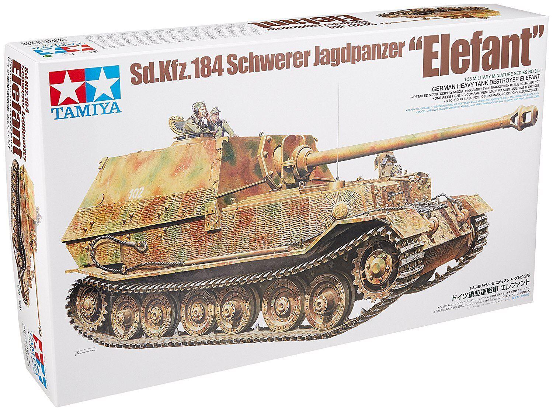 TAMIYA Elephant Heavy Tank Destroyer 1 35 Military Miniature No.325 Germany Kit