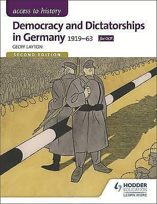 1 of 1 - Access to History: Democracy and Dictatorships in Germany 1919-63 for OCR Second