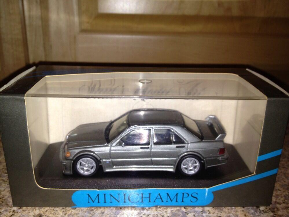 Minichamps Mercedes 190 E Evo 1 Calle Perla grigio Metálico 1 43 Ultra Raro De Encontrar