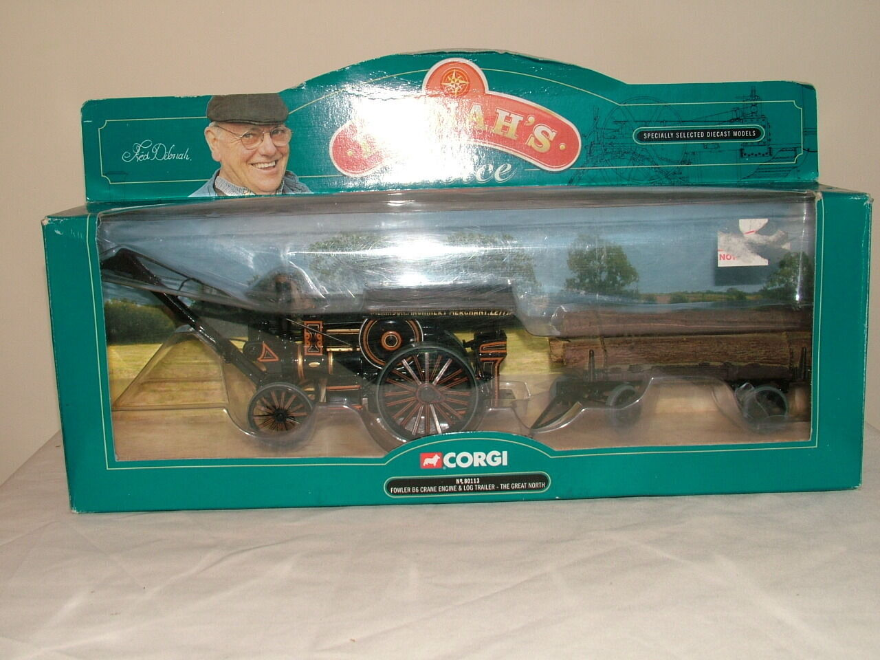Corgi Vintage Glory No 80113 F Dibna set Fowler and Log load VNMB