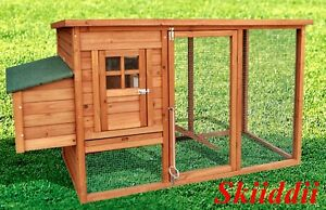 Large-Chicken-Coop-Rabbit-Guinea-Pig-Ferret-Hen-House-Hutch-Brand-New