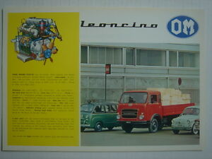 OM  Leoncino  Prospektblatt/brochure (English) 1967.