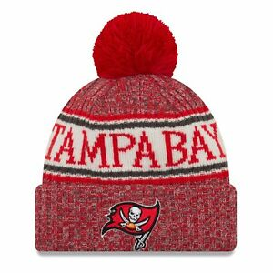 953afe787e5 2018 Tampa Bay Buccaneers Era Knit Hat on Field Sideline Beanie Stocking Cap
