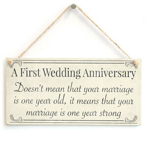 Image Is Loading First Wedding Anniversary Your Marriage One Year