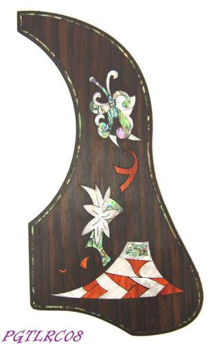 Acoustic Classical Guitar inlay Rosewood Pickguard AdhesiveTape Back PGTLRC08-10