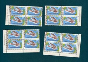 Stamps-Canada-494-Non-Stop-Flight-1969-Pl-1-1-set-of-of-4-blocks-MNH