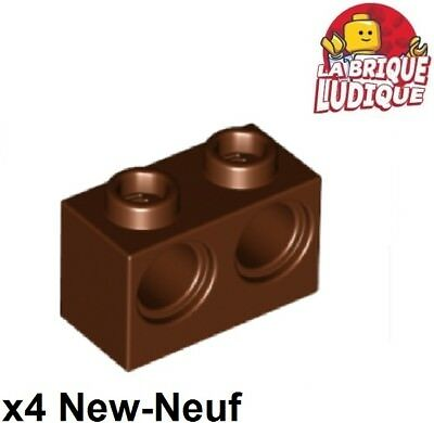 4x Brique Brick modified 1x2 Grille Grill marron//reddish brown 2877 NEUF Lego