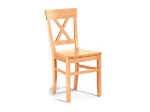 Stuhl Massivholz-Stuhl LUDWIG hochwertig Esszimmer-Stuhl Buche massiv lackiert
