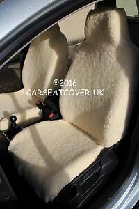 Fiat 500 Luxury Faux Sheepskin Fur Car Seat Covers Front Pair Ebay
