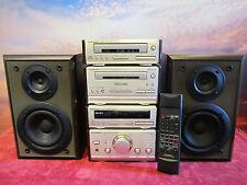 Komplette Mini Design Stereoanlage Technics SC-HD50/60 mit FB, BA und Boxen, Top