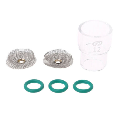 6Pcs #12 Fupa Glass Pyrex Cup TIG Welding Replacement For WP-9 WP-17 Gas Lens