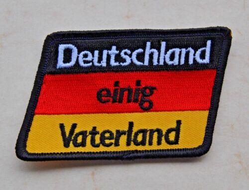 AUFNÄHER DEUTSCHLAND EINIG VATERLAND ABZEICHEN FLAGGE FAHNE PATCH BADGE D1