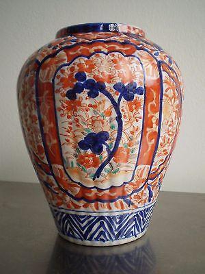 Collection Here Vaso Imari Ceramica Giappone Asia Xix S Antico Deco Orient Blu Rosso Attractive Appearance Complementi D'arredo