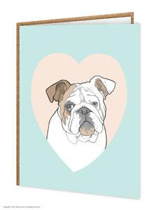 Bulldog-AMANTES-DE-LOS-PERROS-Cumpleanos-Tarjeta-felicitacion-brainbox-CANDY