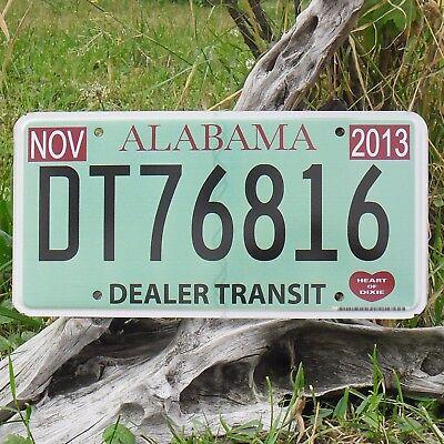 Authentisch Kennzeichen'kennzeichen Von'alabama dt76816 Nummernschild Usa Klar Und GroßArtig In Der Art