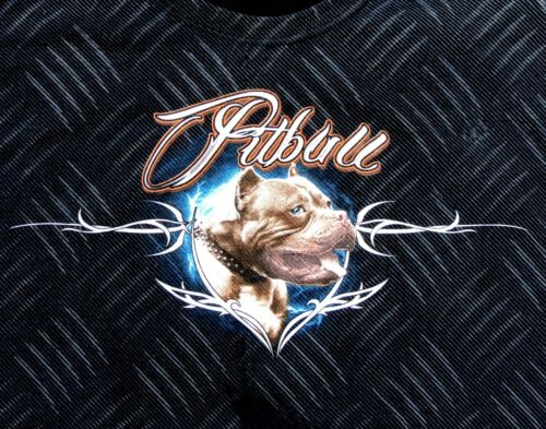 Urban Pitbull Graphic Short Sleeve T-Shirt Solid Black Diamond Plate Sizes M L