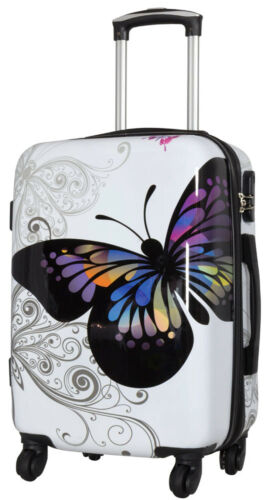 Papillon-Butterfly-Blanc-Extensible 55 cm bowatex Voyage-Valise-M-Trolley
