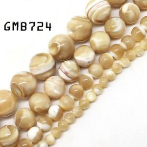 Natural-Gemstone-Trochus-Shell-Stone-Beads-Strand-15-034-Wholesale-Jewelry-Making